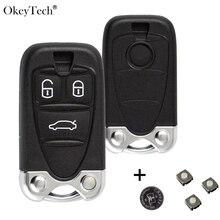 OkeyTech Автомобильный Дистанционный ключ оболочки для Alfa Romeo 159 Brera Giulietta 3 кнопочный корпус с вставным лезвием автобрелок аксессуары