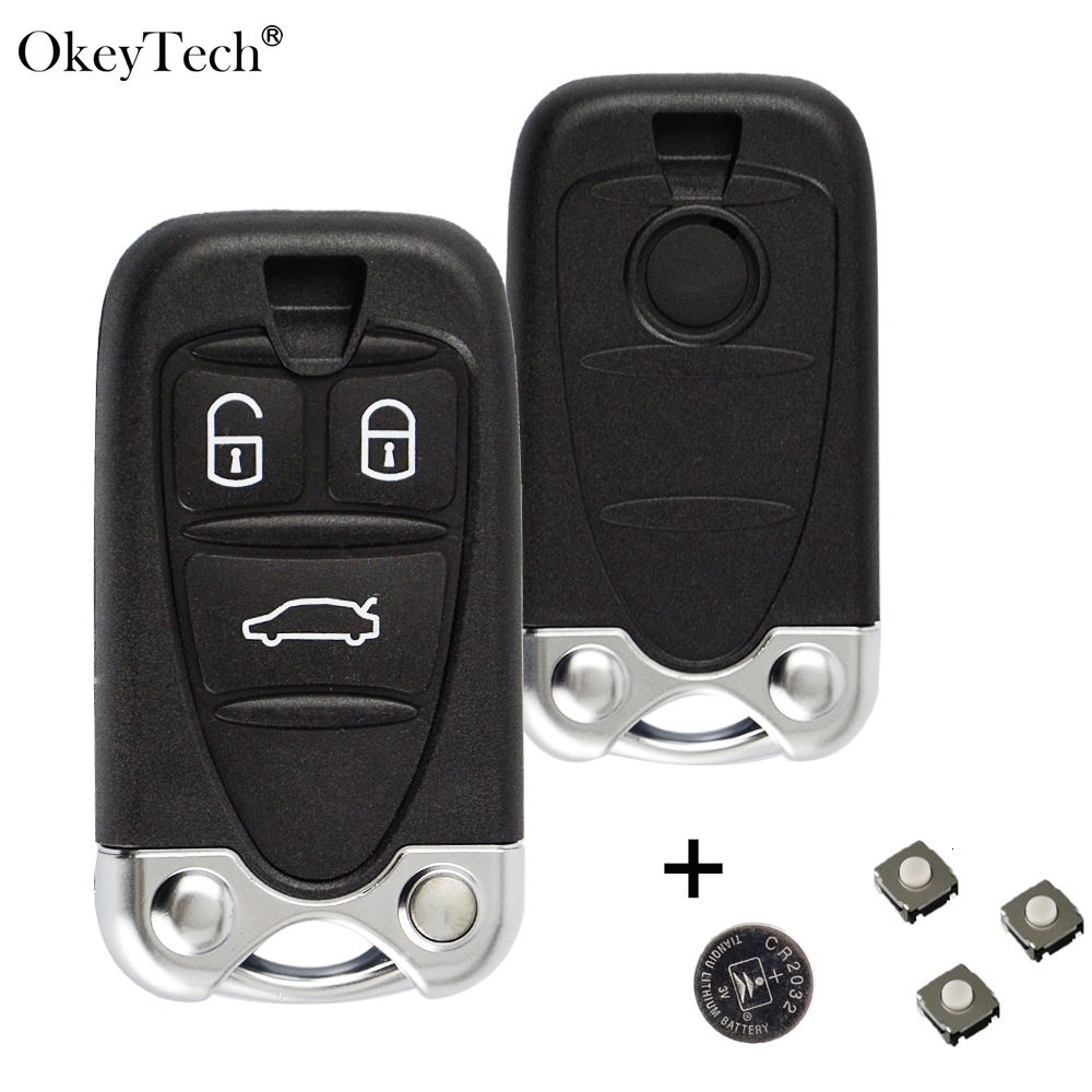 OkeyTech Car Remote Key Shell for Alfa Romeo 159 Brera Giulietta 3 Button Housing With Insert Blade Auto Key Fob Accessories