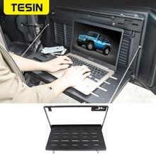 TESIN Rear Racks for Jeep Wrangler JL 2018 Metal Car Tailgate Trunk Door Shelf Storage Rack for Jeep JL Wrangler Accessories