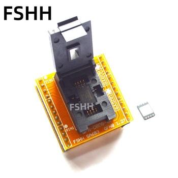 QFN8 to DIP8 Programmer Adapter WSON8 DFN8 MLF8 to DIP8 socket for 25xxx 6x8mm Pitch=1.27mm rm6203 cr6203 dip8