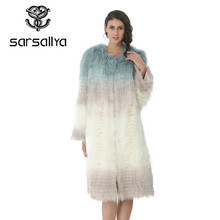 New Fashion Real Silver Fox Fur Coat For Women Warm Winter Slim Strips Style Customized Plus Size(China)