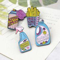 5 Pack Cute Enamel Lapel Pins Sets Cartoon Brooches Pin Badges for Clothing Bags Backpacks Jackets Hat DIY Y4QB