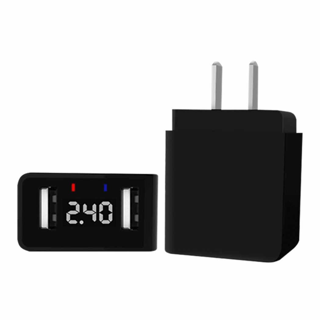 JORINDO قابس قياسي أمريكي محول شحن للهاتف المحمول ، 1-15P إلى شاحن طاقة واجهة USB مزدوج ، مع شاشة ديجيتال