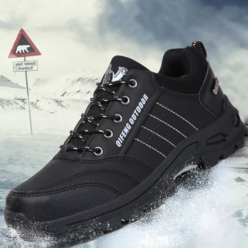 Image 5 - Winter Mens Popular Casual Shoes Black Leather Classic Warm Climbing Footwear Summer Mesh Sneakers Women Outdoor Running ShoesMens Casual Shoes   -