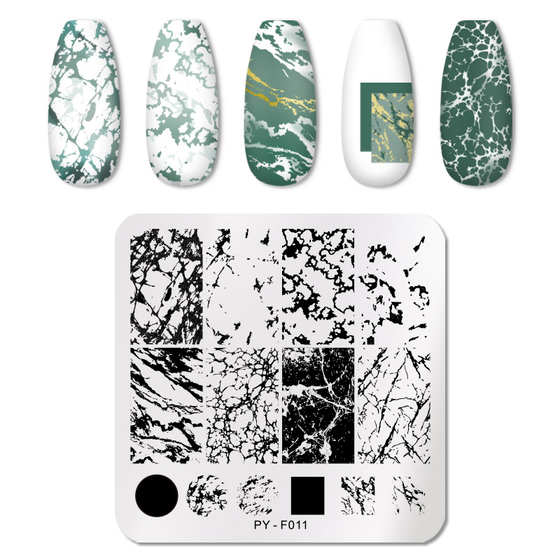PICT YOU 12*6cm Nail Art Templates Stamping Plate Design Flower Animal Glass Temperature Lace Stamp Templates Plates Image 11
