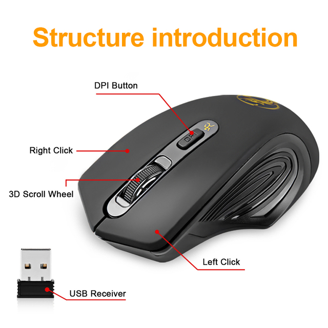 Wireless Mouse USB Computer Mouse Silent Ergonomic Mouse 2000 DPI Optical Mause Gamer Noiseless Mice Wireless For PC Laptop 5