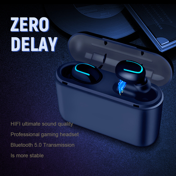 Bluetooth Earphones TWS Wireless Blutooth 5.0 Earphone Handsfree Headphone Sports Earbuds Gaming Headset Phone PK HBQ 1