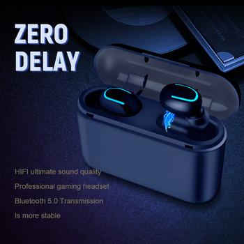 Słuchawki Bluetooth TWS bezprzewodowy zestaw słuchawkowy Blutooth 5 0 zestaw głośnomówiący słuchawki słuchawki sportowe gamingowy zestaw słuchawkowy telefon PK HBQ tanie i dobre opinie KUGE Inne Bezprzewodowy + Przewodowe Do Internetu Bar Monitor Słuchawkowe Do Gier Wideo Wspólna Słuchawkowe Dla Telefonu komórkowego