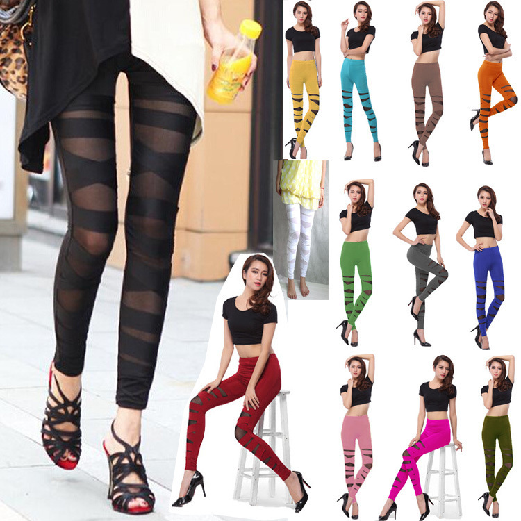 Women's Pants Xia Xin Perspective Bundles Elastic Sexy Feet Tight Pants Luxury Tight Suits Elegant Party Club Banquet Nightclub