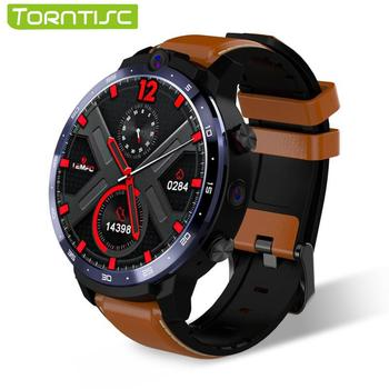 Torntisc LEM12 Full Round Touch HD Screen Dual Camera 4G Smart Watch Men Power Bank Google Play Store Android Smartwatch