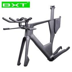 Nowy projekt 700C węgla TT rama czas próbny węgla rama roweru UD błyszczący/matowy BB368 Triathlon rama karbonowa stożkowy zestaw słuchawkowy