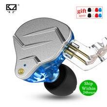 Kz zsn pro 1ba + 1dd tecnologia híbrida de metal alta fidelidade em fones ouvido baixo esporte com cancelamento ruído fone zs10 pro zst as10