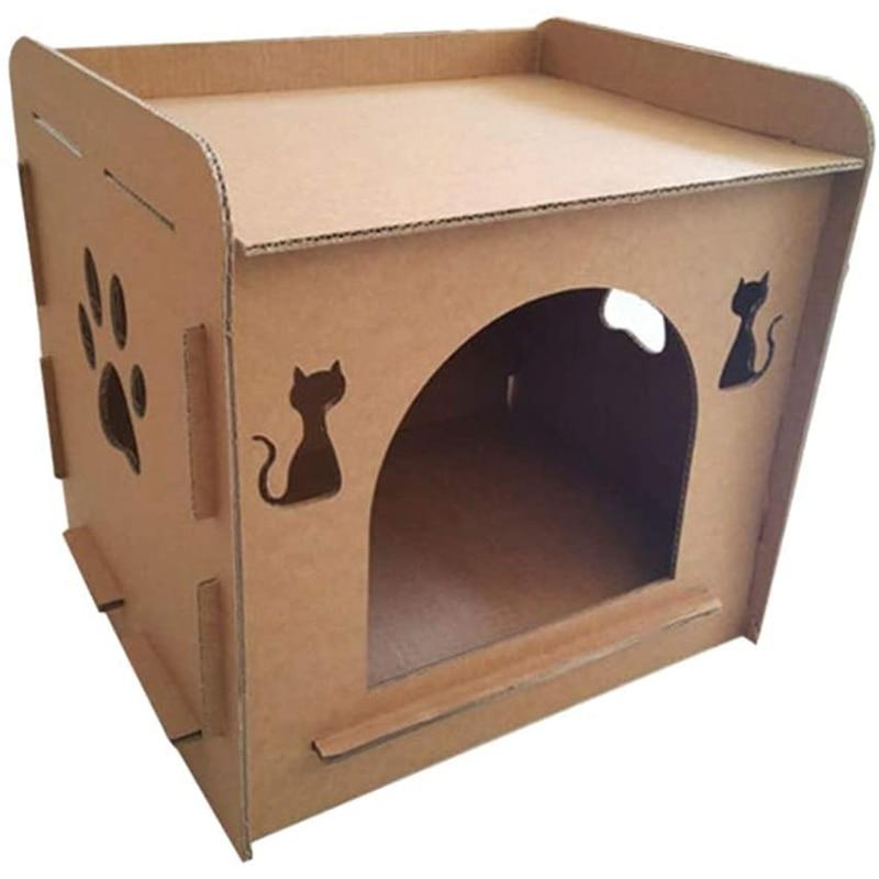 Домик для кошек, домик для котят, гнездо из гофрированного картона