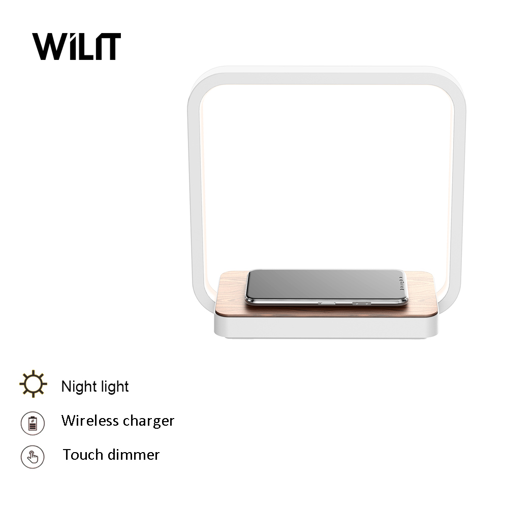 Wilit lampes de Table modernes pour chambre étude lampes de lecture chevet tactile gradation éclairage Luminaria téléphone sans fil charge