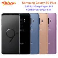 Samsung-teléfono inteligente Galaxy S9 Plus G965U1 G965U, móvil libre 4G, Android, ocho núcleos, Snapdragon 845, 6,2 pulgadas, cámara Dual de 12MP, 6GB y 64GB, NFC