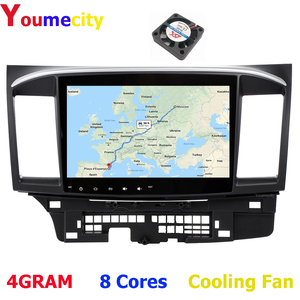 Youmecity Android 9.0 Car DVD Multimedia Player for MITSUBISHI LANCER 2007-2018 9 x 10.1 inch 2DIN 3G/4G GPS radio video player(China)