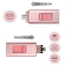 4 in 1 Multi-function Type C USB Flash Drive 32GB Mobile Phone OTG USB Pendrive 64GB 16GB 128GB Metal Pen Drive 256G Free shippi недорого