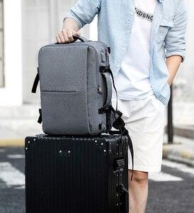 Image 5 - MOYYI iş seyahat çift bölmeli sırt çantaları ile çok katmanlı benzersiz dijital çanta 15.6 inç dizüstü bilgisayar için erkek sırt çantası