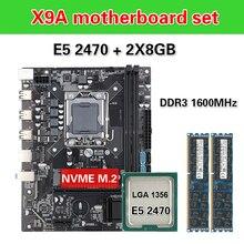Kllisre X9Aเมนบอร์ดชุดXeon LGA 1356 E5 2470 C2 2X8GB = 16GB 1600MHz DDR3 ECC REGหน่วยความจำ