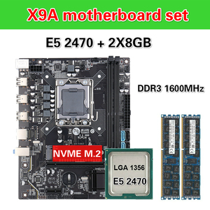 Image 1 - Kllisre X9A האם סט עם Xeon LGA 1356 E5 2470 C2 2x8GB = 16GB 1600MHz DDR3 ECC REG זיכרון