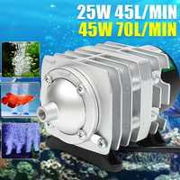 45L/min 25W compresseur d'air électromagnétique Aquarium oxygène piscine aérateur réservoir pompe à Air Aquarium oxygène piscine pompe à Air aérateur