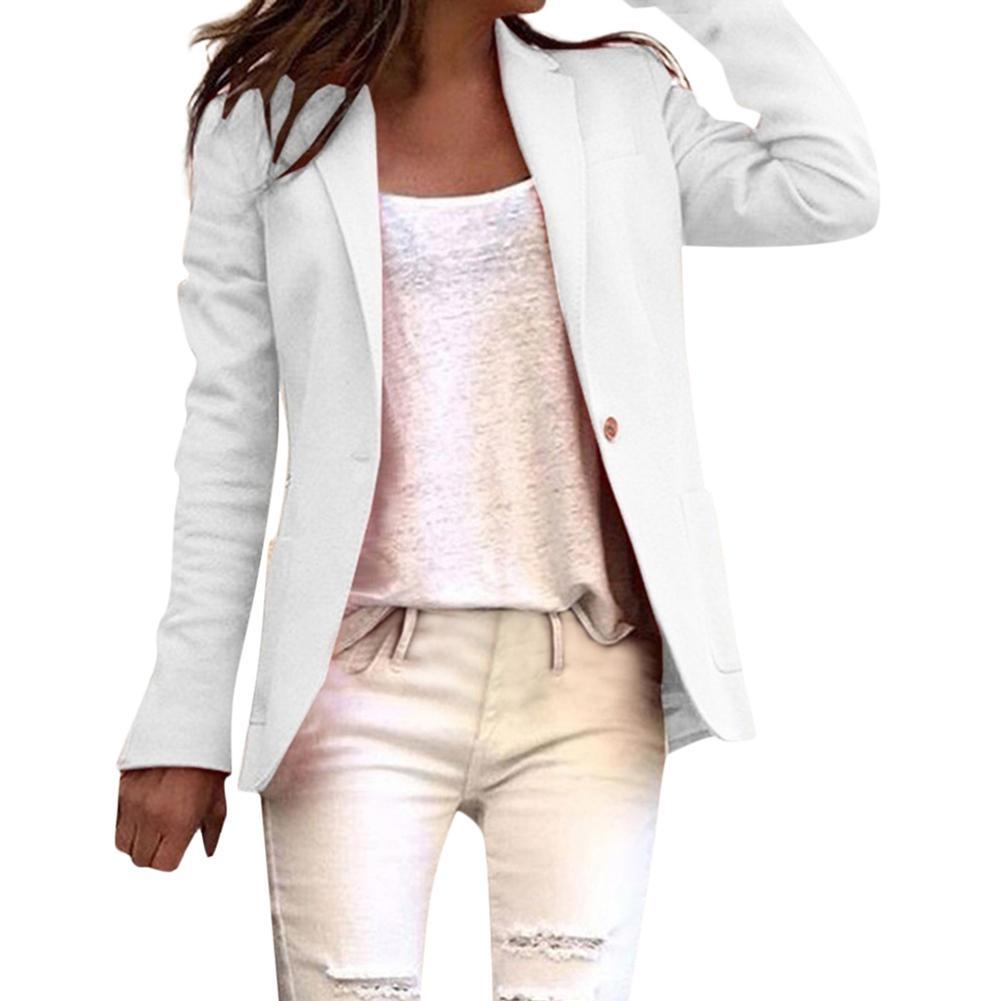 Office Lady Besiness Blazer Solid Color Single Button Women Blazer Long Sleeve Suit Basic Coat Blazer Feminino пиджак женский