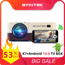Beamer-Projector Smartphone Video Android BYINTEK Mini Portable Wifi Home Theater 1080P