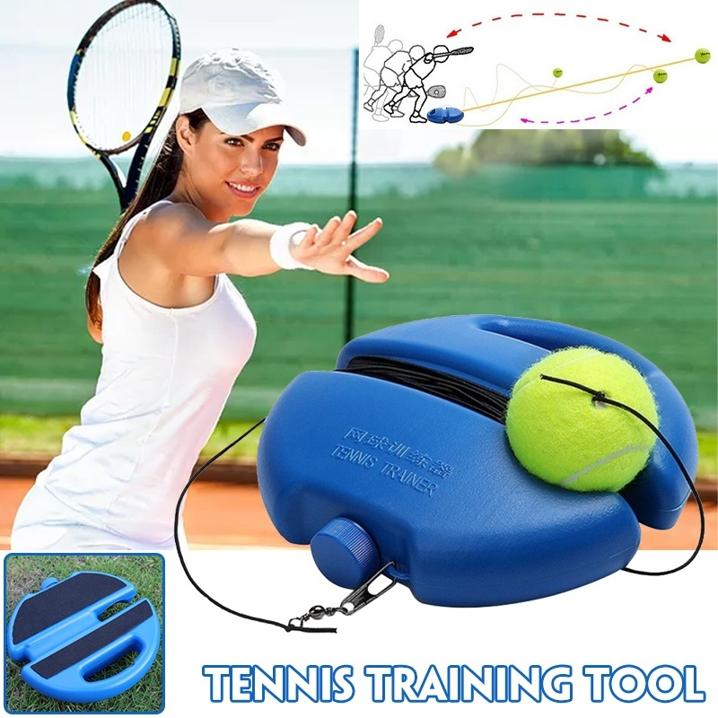 Multifunction Tennis Training Tool Exercise Tennis Ball Sport Self-study Rebound Ball with Tennis Trainer Baseboard