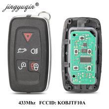 Jingyuqin 315Mhz / 433Mhz 5 przycisków pilot zdalnego sterowania dla Land rovera LR4 Range Rover Evoque Sport KOBJTF10A klucz sterujący