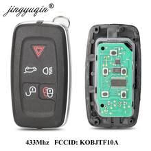 Jingyuqin 433 МГц 5 кнопок дистанционного ключа для Land Rover LR4 Range Rover Evoque Sport KOBJTF10A оригинальный пульт дистанционного управления