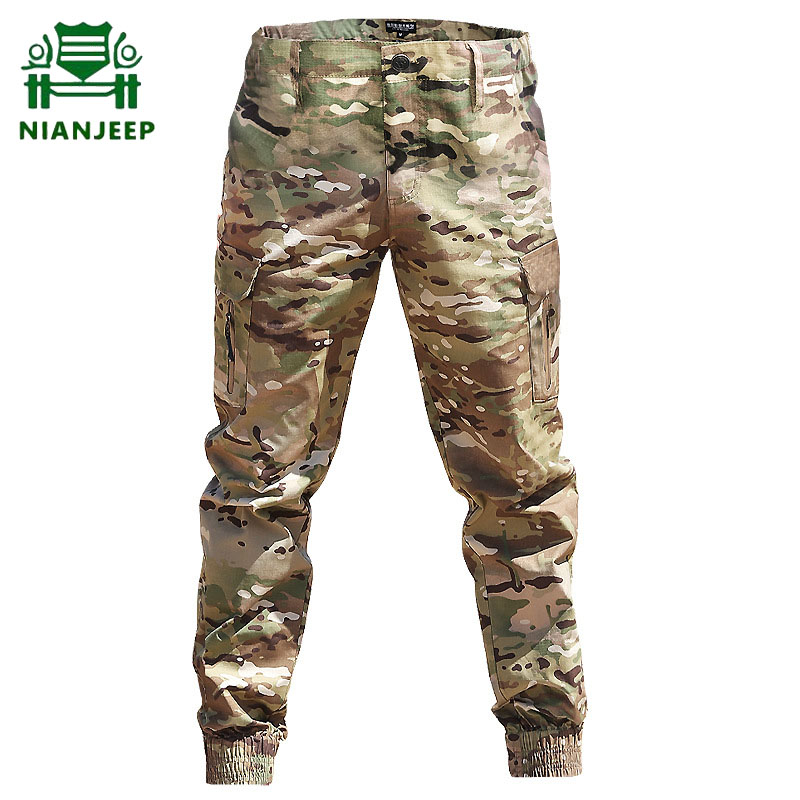 Men's Tactical Military Pants Multi-pocket Streetwear Casual Camouflage Jogger Pant Male Commuter Cargo Trousers Droppshipping