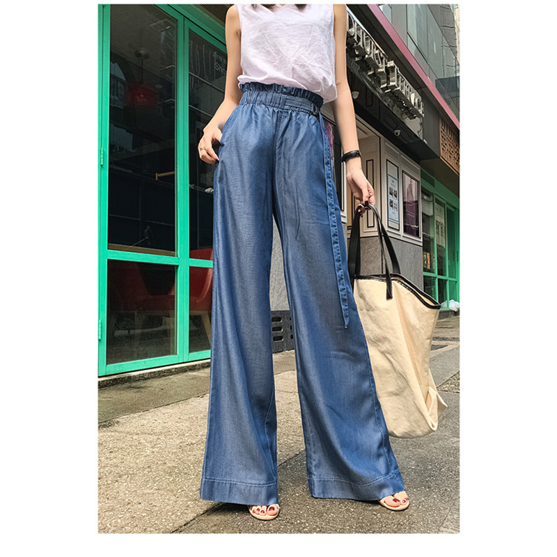 JUJULAND Summer Casual Solid   Pants   For Women High Waist Pocket Big Large Size Long   Wide     Leg     Pants   Fashion Clothing New 918