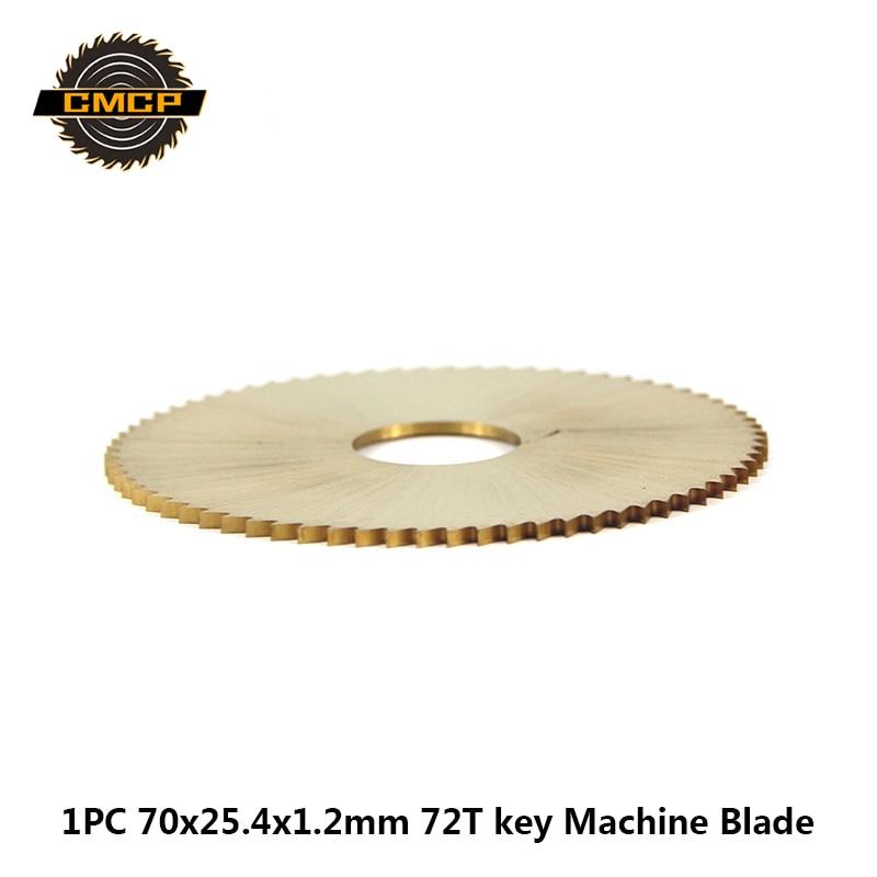 1PC 70x25.4x1.2mm 72T Key Machine Blade For Wenxing Key Cutting Machine Titanium Coated Key Cutter  Blade HSS Circular Saw Blade