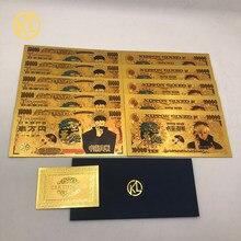 10 pcs japonês anime jujutsu kaisen yuji itadori & gojo satoru notas de ouro para a coleção agradável