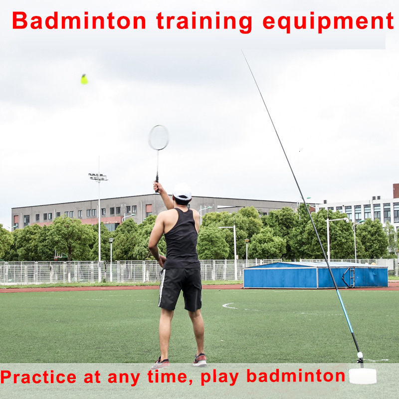 Portable Badminton Trainer Badminton Practice Robot Professional Stretch Badminton Training Tool Self-study Shuttlecock Rebound
