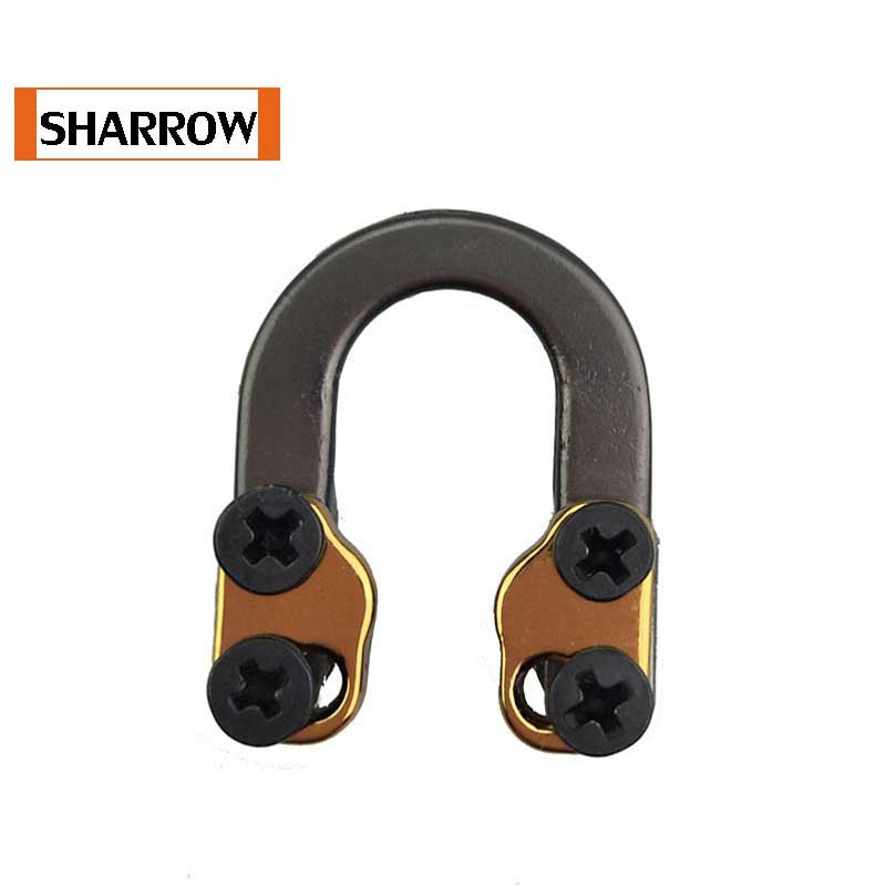New Loop Metal D Ring Buckle Rope Imports Aerospace Aluminum U Compound Archery Bow And arrow Shooting Parts