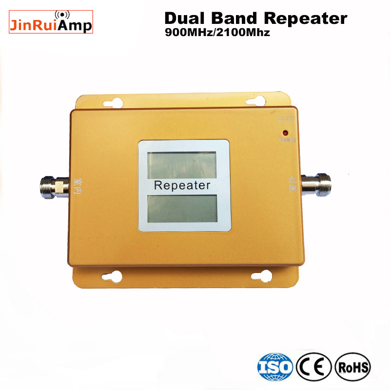 LCD 2G 3G gsm repeater 900 2100 dual band signal booster mobiele netwerk oplossing gsm wcdma Cellulaire Signaal booster Versterker - 3
