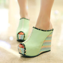 SAGACE Women Summer Platform Shoes Fish Mouth Wedges Beach Shoes Comfortable Casual Candy Colors Temperament Ladies Slippers(China)
