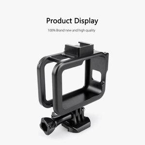 Image 4 - Vamson Vlog Aluminium alloy Housing Case for GoPro Hero 8 Black Vlogging Cage Frame Shell with Mic Cold Shoe Mount VP654
