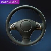 цена на Car Braid On The Steering Wheel Cover for Subaru Forester 2008-2012 Impreza 2008-2011 Legacy 2008-2010 Exiga 2 Auto Wheel Cover