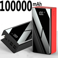 Banco de energía portátil de 100000 mAh para teléfono móvil, cargador de batería externo de 100000 mAh para Xiaomi Mi