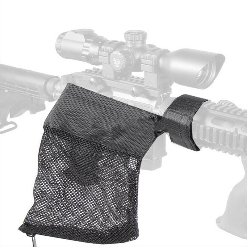Hunting Bullet Shell Bag Military Gear AR-15 Ammo Brass Shell Catcher Mesh Trap Nylon Mesh Bag Capture Black .223 / 5.56