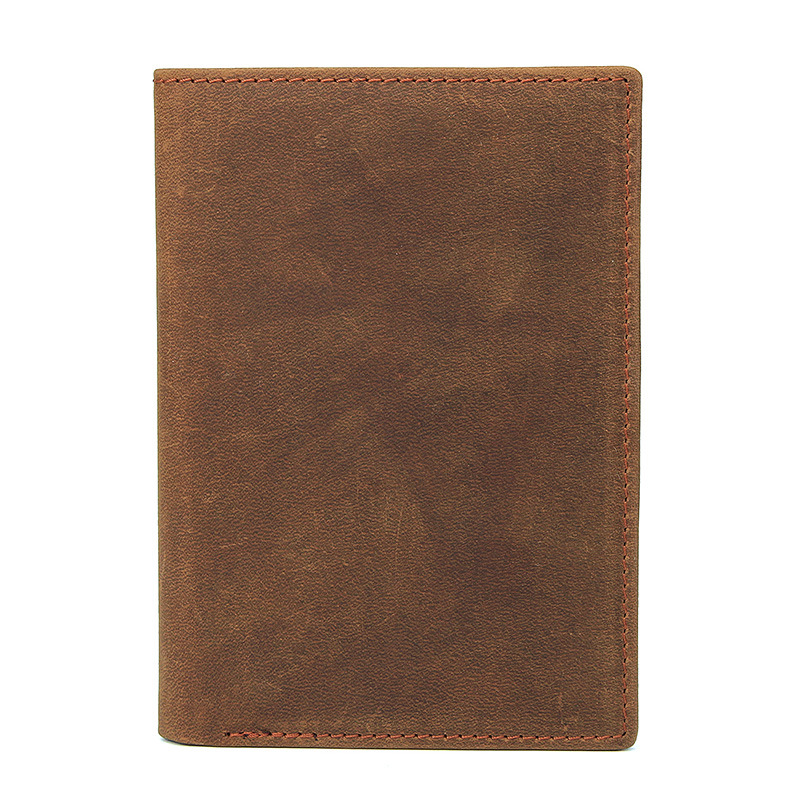 Soft Genuine Leather Passport Cover Men Travel Passport Holder