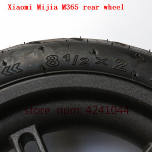 Image 3 - 8 1/2x2 tyre Pneumatic tire Inner Tube with alloy hub kit for Xiaomi Mijia M365 Electric Scooter Special purpose rear wheels