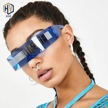 Fashion Future One-piece Eye-protection Sunglasses Trend Frameless Eyewear