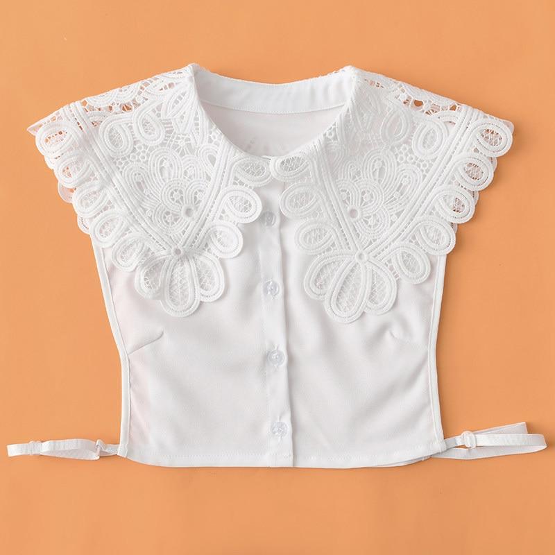 Women Detachable Lapel Choker Necklace Shirt Fake False Collar Blouses Woman 2019 Removable Half Shirt Blouse