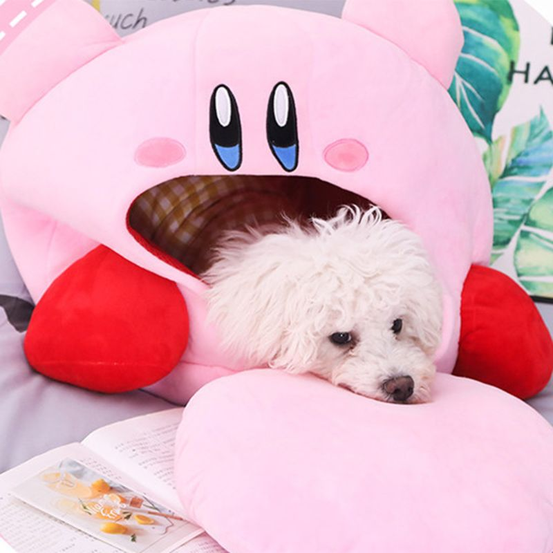 Image 5 - Cartoon Kirby Stuffed Plush Animal Hat Plush Doll Headgear Pillow Nap Baby Birthday ToysMovies & TV   -