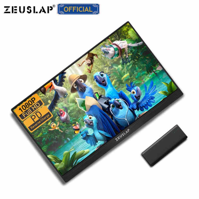 """13.3 """"15.6"""" przenośny monitor gamingowy 1080P ekran HDR IPS USB C HDMI komputer monitor do komputera do przełącznika Xbox PS4 Raspberry Pi"""