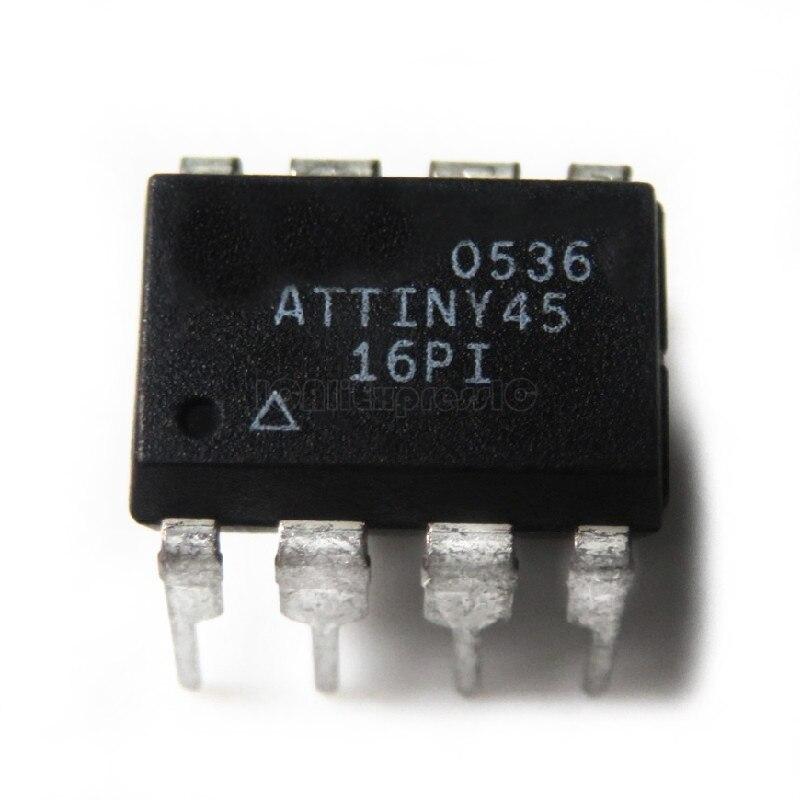 1pcs/lot ATTINY45-20PU ATTINY45 DIP-8 In Stock