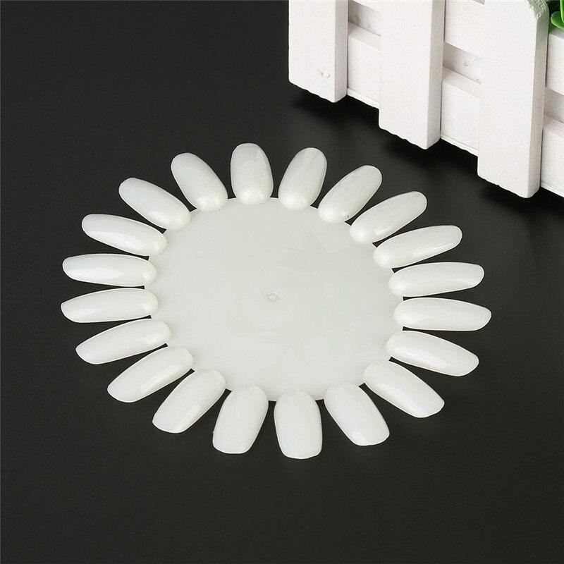 Nail Art Acrylic False Tips Practice Display Round Wheel DIY Nail Tool Tips Make Up Professional Nail Tool Natural Transparent